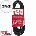 Milwaukee 48-76-4008 2pk 8 ft 3-Wire Quiklok Cord