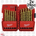 Milwaukee 48-89-0012 2x 29pc Thunderbolt Titanium Drill Bits in Origpkg
