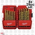 Milwaukee 48-89-0012 4x 29pc Thunderbolt Titanium Drill Bits in Origpkg