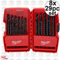 Milwaukee 48-89-2802 8x 29 pc Thunderbolt Black Oxide Drill Bit Set