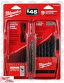 Milwaukee 48-89-2803P Thunderbolt Black Oxide HSS Drills + 3 Cobalt Bits
