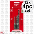 Milwaukee 48-89-4444 12x 4pc Shockwave Drill Bit Set