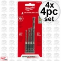 Milwaukee 48-89-4444 4x 4pc Shockwave Drill Bit Set