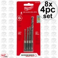 Milwaukee 48-89-4444 8x 4pc Shockwave Drill Bit Set