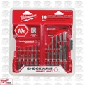 Milwaukee 48-89-4445 10 Piece Shockwave Shank Drill Bit Set