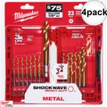 Milwaukee 48-89-4631 4x 23pcTitanium Shockwave Drill Bit Set Kit + Case