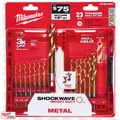 Milwaukee 48-89-4631 Titanium Shockwave Drill Bit Set Kit 23-Piece + Case