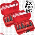 Milwaukee 48-89-9224 2x 6 Piece Step Drill Bit Set
