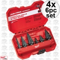 Milwaukee 48-89-9224 4x 6 Piece Step Drill Bit Set