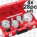 Milwaukee 49-22-4185 4x 28pc Set All Purpose Hole Dozer Hole Saw Kit