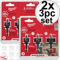 Milwaukee 49-22-4800 2x 3pc Shockwave Impact-Duty Thin Wall Hole Saw Set