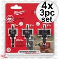 Milwaukee 49-22-4800 4x 3pc Shockwave Impact-Duty Thin Wall Hole Saw Set