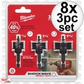 Milwaukee 49-22-4800 8x 3pc Shockwave Impact-Duty Thin Wall Hole Saw Set