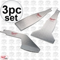Milwaukee 49-22-5403 3 Piece Sawzall Scraper Blade Set