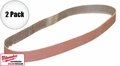 "Milwaukee 49-93-8115 2x 10pk 1/2"" x 18"" 60 Grit Sanding Belts"