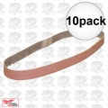 "Milwaukee 49-93-8116 10pk 1/2"" x 18"" 80 Grit Sanding Belts"