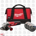 "Milwaukee 6117-33P 5"" 13A Grinder Slide, Lock-On w/ Bag & 3 Discs 6117-33"