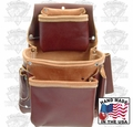 Occidental Leather 5060 Deep Fastener Bag with Holders 3 Pouch