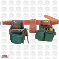 Occidental Leather 8080DBLG Large Tool Belt OxyLights Framer Package