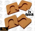 Pony 7456 2pk Set of 4 Protective Bar Clamp Replacement Pads