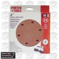 "Porter-Cable 736601225 25pk 6"" 120grit 6-Hole Sanding Disc"
