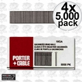 "Porter-Cable PBN18063 4x Box of 5,000 5/8"" 18 Gauge Galvanized Brad Nails"