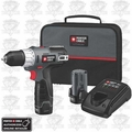 "Porter-Cable PCL120DDC-2 Compact Lithium 3/8"" Drill/Driver Kit"
