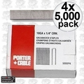 "Porter-Cable PNS18150 4pk 5,000 1-1/2"""" x 1/4"" 18G Narrow Crown Staples"
