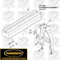 Powermatic 6294726B Bed Extension for Model 3520 Lathes PLUS Leg