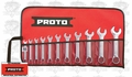 "Proto Tool J1200ES-11 11pc 1/4"" - 3/4"" Combo SAE Short Wrench Set"