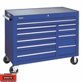 "Proto Tool J455041-10BLPD 10 Drawer 50"" Blue Workstation with Power Drawer"