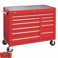 "Proto Tool J455041-10RDPD 10 Drawer 50"" Red Workstation with Power Drawer"