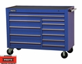 "Proto Tool J455743-11BL 11 Drawer 57"" Blue Workstation"