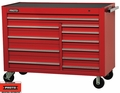 "Proto Tool J455743-11RD 11 Drawer 57"" Red Workstation"