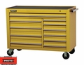 "Proto Tool J455743-11YL 11 Drawer 57"" Yellow Workstation"