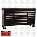 "Proto Tool J456741-18BKPD 18 Drawer 67"" Black Workstation w/ Power Drawer"