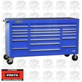 "Proto Tool J456741-18BLPD 18 Drawer 67"" Blue Workstation with Power Drawer"