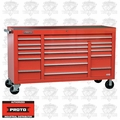 "Proto Tool J456741-18RDPD 18 Drawer 67"" Red Workstation with Power Drawer"