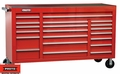 "Proto Tool J456741-20RD 20 Drawer 67"" Red Workstation"