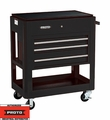 Proto Tool J459000-3BK 3 Drawer Heavy Duty Black Utility Cart