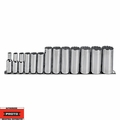 "Proto Tool J52112-TT 13 Piece 3/8"" Drive Deep Socket Set 12 Point"