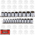 "Proto Tool J52215-TT 21 Pc Tether Ready Metric Socket Set 3/8"" Dr 12 PT"