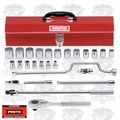 "Proto Tool J54124 1/2"" Drive 26 Piece Socket Set - 12 Point"