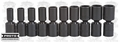 Proto Tool J72135M 10 Piece Metric Universal Joint Impact Deep Socket Set