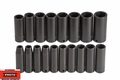 "Proto Tool J72149M 1/2"" Drive 18 Piece Deep Impact Socket Set 6 Point"