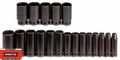 "Proto Tool J74116 1/2"" Drive 19 Piece Deep Impact Socket Set - 6 Point"