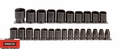 "Proto Tool J74206 1/2"" Drive 25 Piece Metric Impact Socket Set 6 Point"