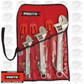 Proto Tool J790-TT 3 Piece Click-Stop Adjustable Wrench Set