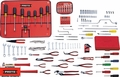 Proto Tool J99101 131 Piece Small Tool Set + Tool Box J993-NA