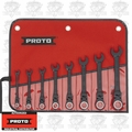Proto Tool JSCVF-8S Black Chrome Combination Wrench Set
